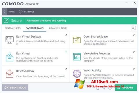 Screenshot Comodo Antivirus Windows 10