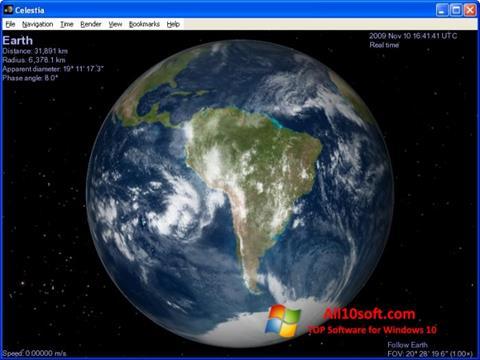 Screenshot Celestia Windows 10