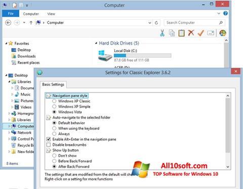 Screenshot Classic Shell Windows 10