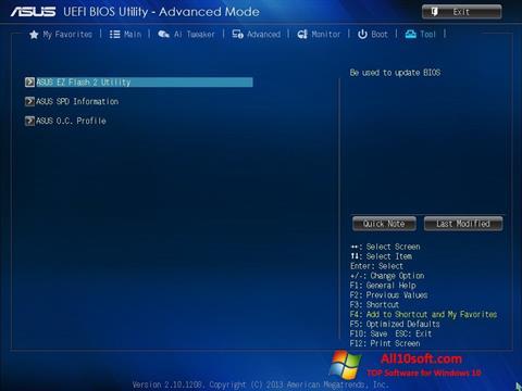 Screenshot ASUS Update Windows 10