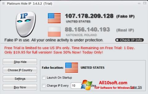 Screenshot Hide IP Platinum Windows 10