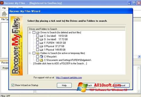 Screenshot Recover My Files Windows 10