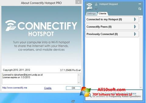 Screenshot Connectify Windows 10