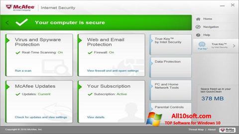 Screenshot McAfee Windows 10