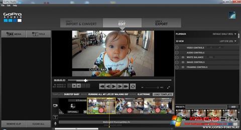Screenshot GoPro Studio Windows 10
