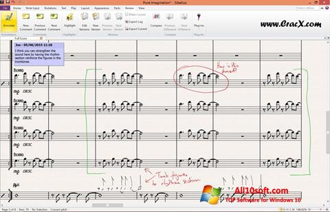 Screenshot Sibelius Windows 10