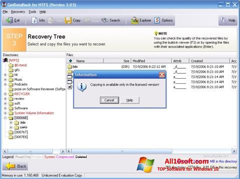 Screenshot GetDataBack Windows 10