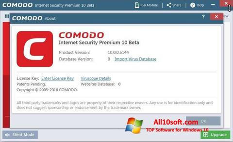 Screenshot Comodo Windows 10