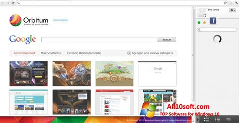 Screenshot Orbitum Windows 10