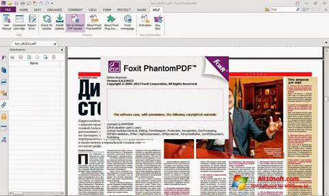 Screenshot Foxit Phantom Windows 10