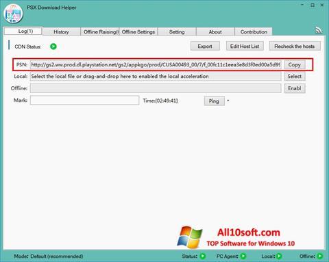 Screenshot DownloadHelper Windows 10