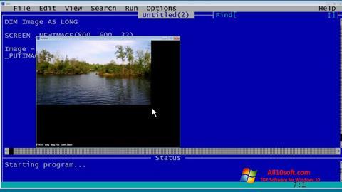Screenshot QBasic Windows 10