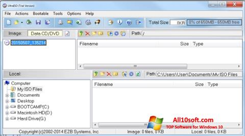 Screenshot UltraISO Windows 10