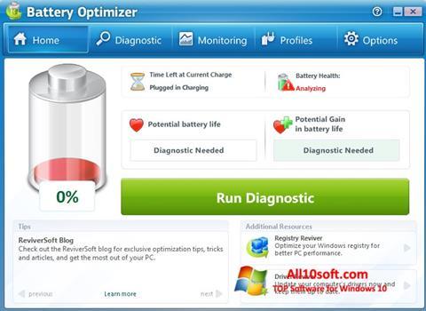 Screenshot Battery Optimizer Windows 10