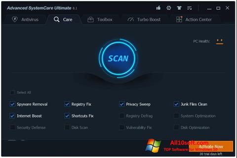 Screenshot Advanced SystemCare Windows 10