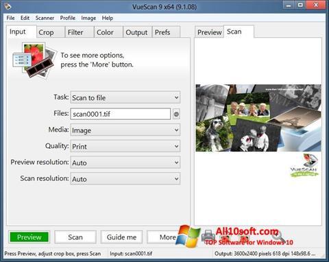 Screenshot VueScan Windows 10