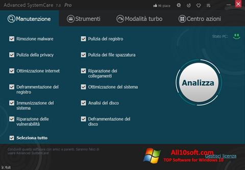 Screenshot Advanced SystemCare Pro Windows 10