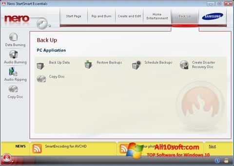Screenshot Nero Windows 10