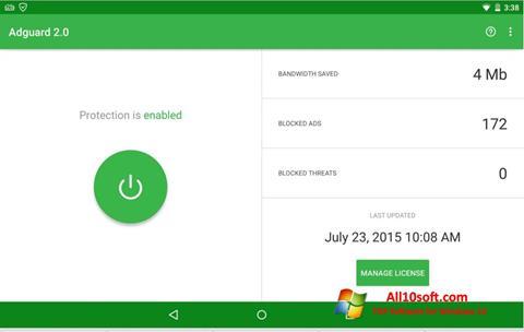 Screenshot Adguard Windows 10