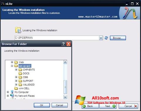 Screenshot nLite Windows 10