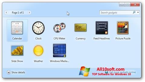 Screenshot 8GadgetPack Windows 10