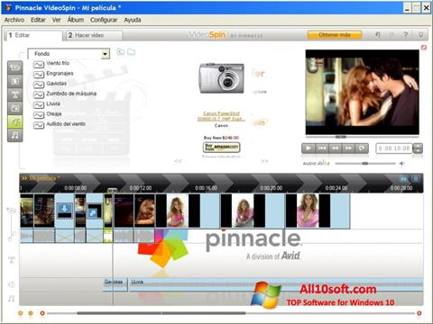 Screenshot Pinnacle VideoSpin Windows 10