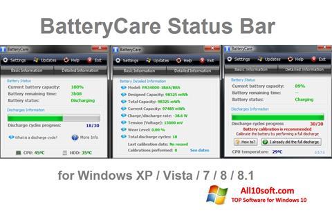 Screenshot BatteryCare Windows 10
