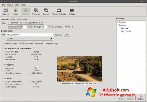 Screenshot HandBrake Windows 10