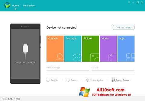Screenshot Huawei HiSuite Windows 10
