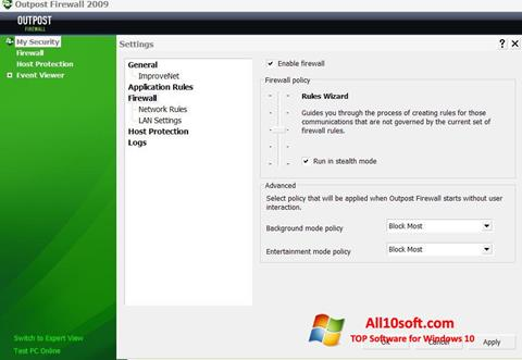 Screenshot Outpost Firewall Free Windows 10