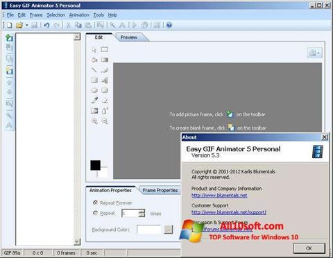 Screenshot Easy GIF Animator Windows 10