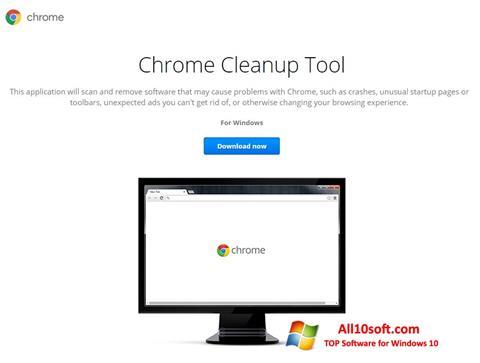 Screenshot Chrome Cleanup Tool Windows 10