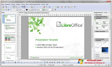 Screenshot LibreOffice Windows 10