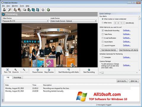 Screenshot WebCam Monitor Windows 10