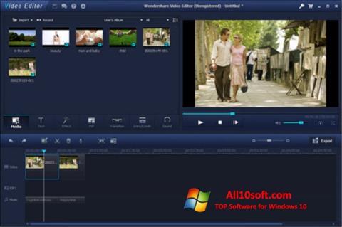 Screenshot Wondershare Video Editor Windows 10