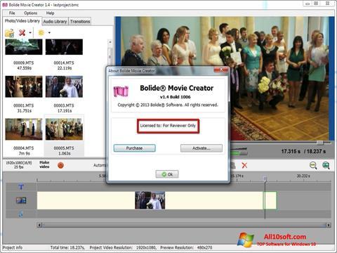 Screenshot Bolide Movie Creator Windows 10