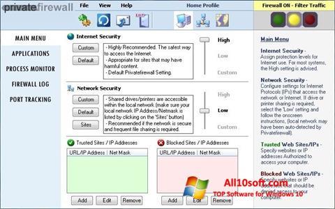 Screenshot Privatefirewall Windows 10