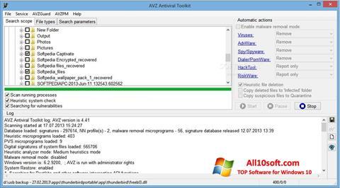Screenshot AVZ Windows 10