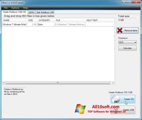 Screenshot XBoot Windows 10