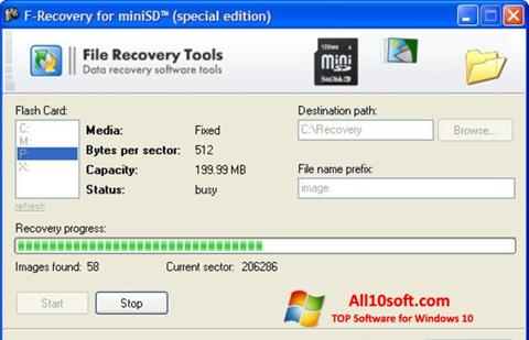 Screenshot F-Recovery SD Windows 10