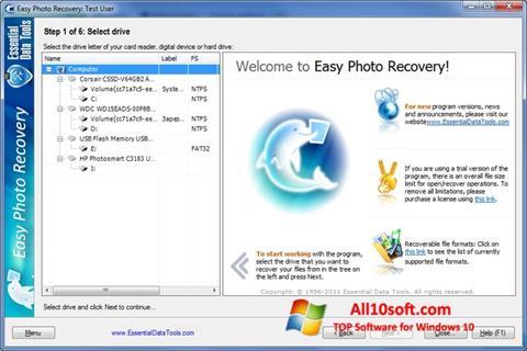 Screenshot Easy Photo Recovery Windows 10