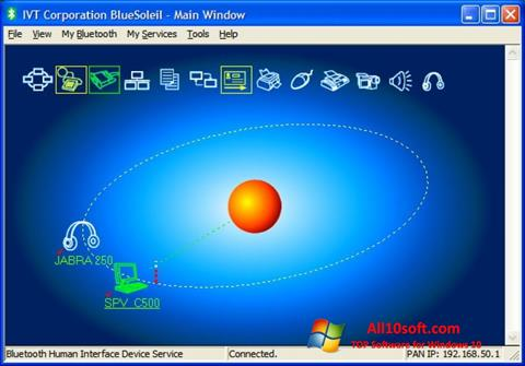 Screenshot BlueSoleil Windows 10