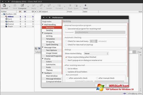 Screenshot Claws Mail Windows 10
