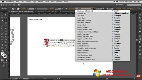 Screenshot Adobe Illustrator Windows 10