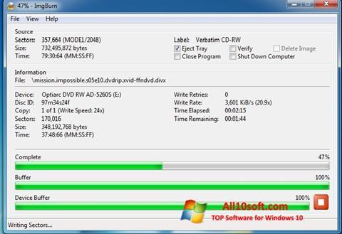 Screenshot ImgBurn Windows 10