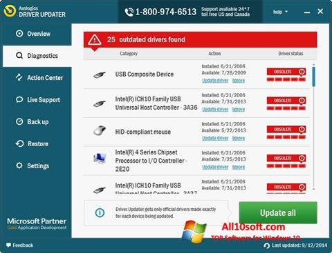 Screenshot Auslogics Driver Updater Windows 10