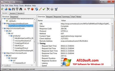 Screenshot Charles Windows 10