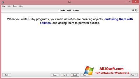 Screenshot Anki Windows 10
