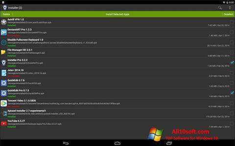 Screenshot InstAllAPK Windows 10