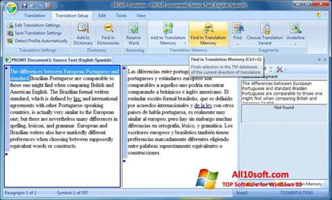 Screenshot PROMT Windows 10